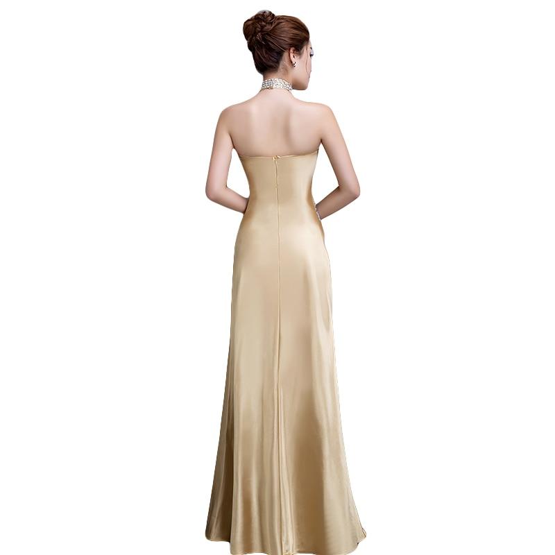 DongCMY 2019 nymodig lång designklänning av soiree courte Guldfärg - Särskilda tillfällen klänningar - Foto 2