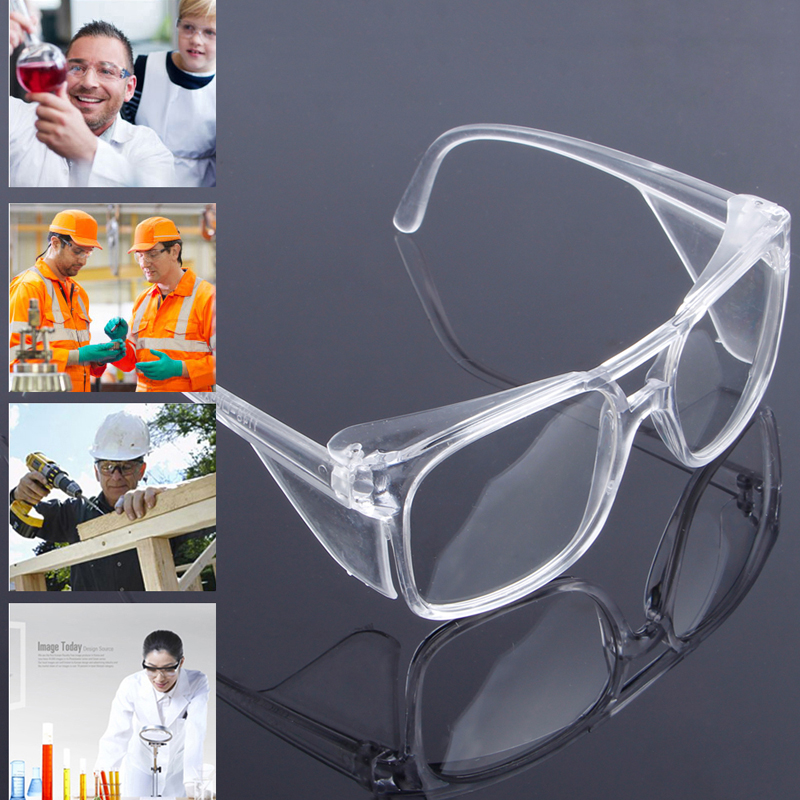 Free Shipping Clear Safety Work Lab Goggles Eyewear Glasses Eye Protective Anti Fog Spectacles