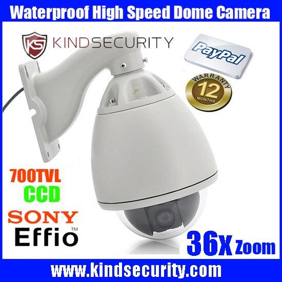 Waterproof outdoor High speed sony effio CCD700tvl Camera Outdoor 36X Zoom sony CCD700tvl CCTV High Speed