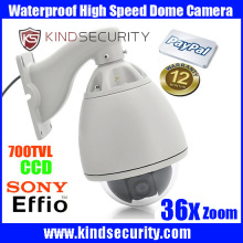 Waterproof outdoor High speed sony effio CCD700tvl Camera Outdoor 36X Zoom sony CCD700tvl CCTV High Speed Dome Camera
