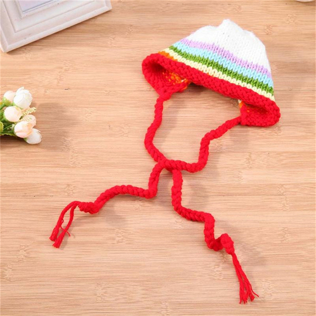 72dac8b447f Newborn Baby Girl Boy Crochet Rainbow Hat Photography Props Infant Tiny Baby  Photo Shoot Hat Caps Studio First Birthday Props