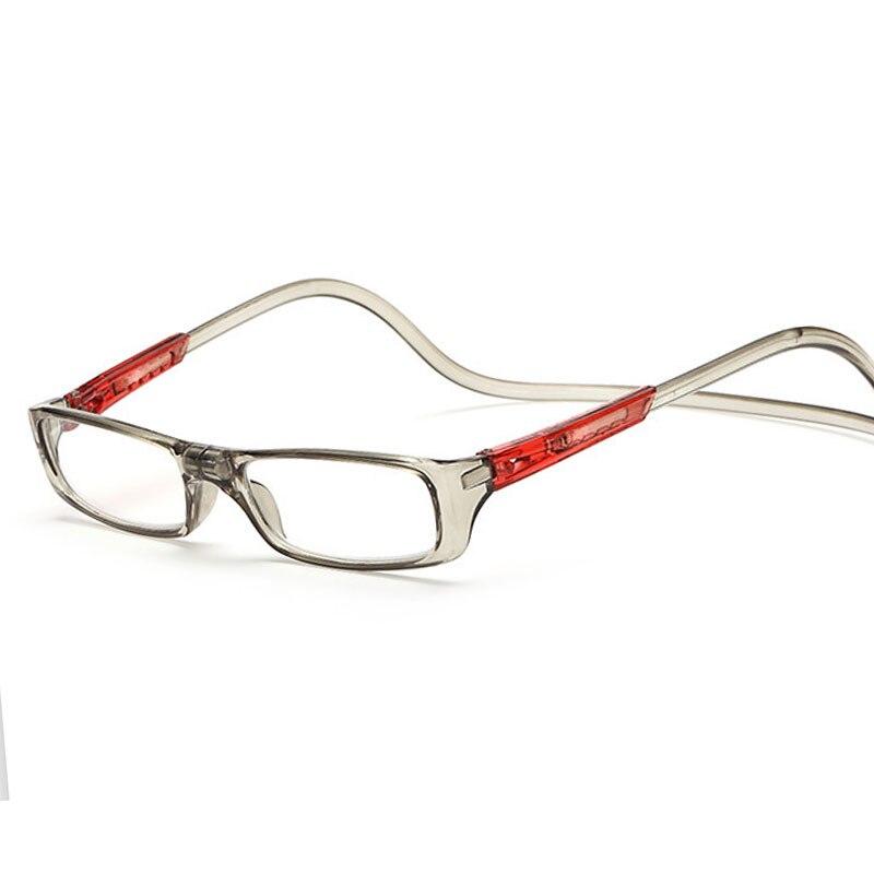 Magnetic Reading Glasses Men Women Clear Magnet Eyewear Adjustable Hanging Neck presbyopic glasses +1.0 1.5 2.0 2.5 3.0 3.5 4.0