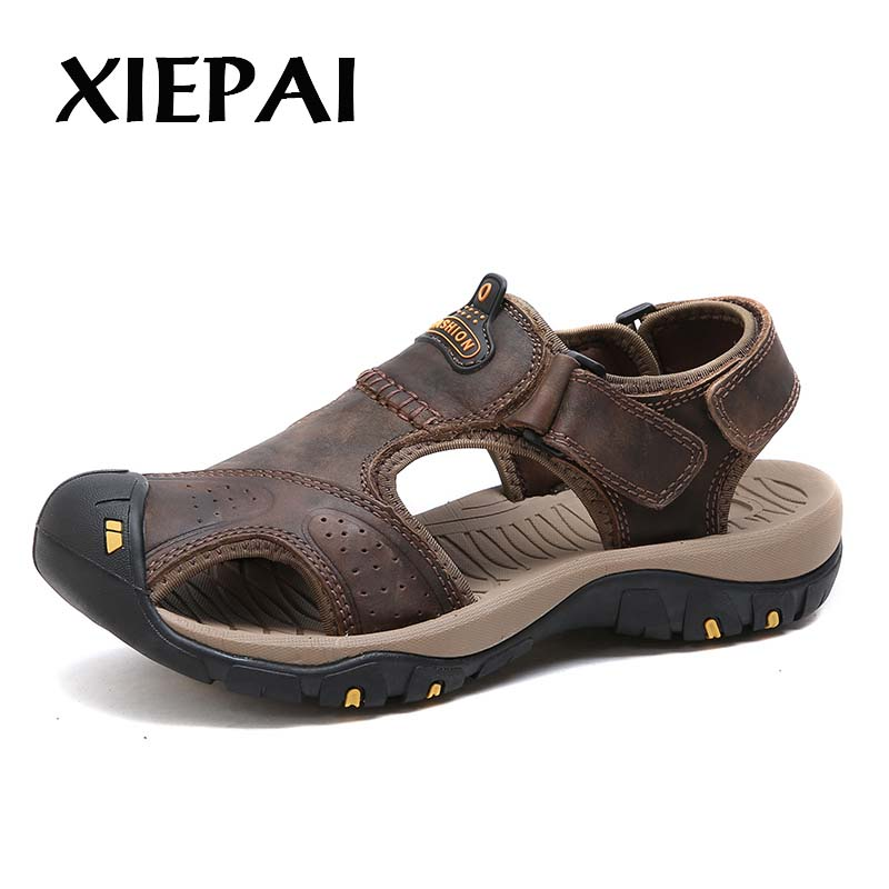 XIEPAI Rome Style Men Genuine Leather Sandals Size 38-44 New Arrival Man Casual Summer Shoes 3 Colors