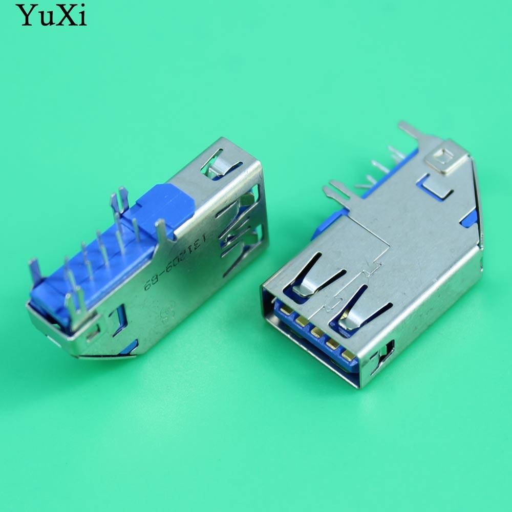 YuXi 1 pièces 25mm Côté vertical usb3.0 prise jack adapté pour ordinateur portable et tout-en-un carte mère usb port