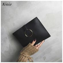 ba6b9fd22423 Xiniu Mini Handbags Female Fashion Style Women s Pouch Leather Simple Round Messenger  Bags Handbag Girls Clutch