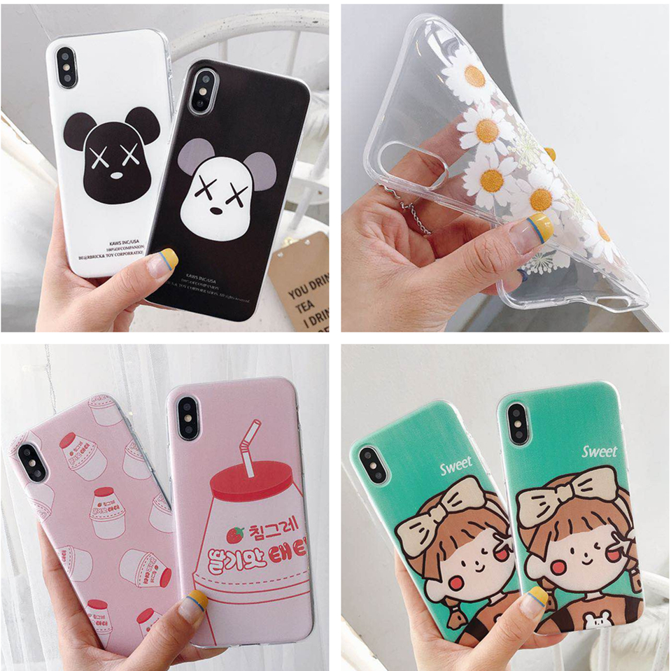Milk bottle Case For OPPO A73 F5 A77 F3 A9 F11 F7 F9 A7X Nex A S V15 S1 FIND X Sweet Gril Violent Bear Soft Silicone Cases Cover oppo reno we bare bears case