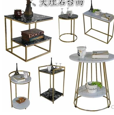 US $256.0 20% OFF|Nordic small coffee table marble sofa side a few small  apartment simple mobile side table living room balcony tea rack.-in Coffee  ...