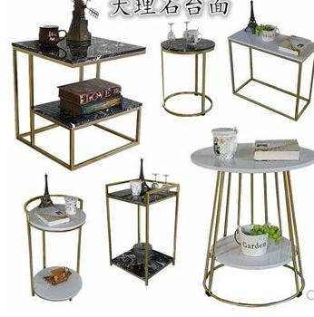 цена на Nordic small coffee table marble sofa side a few small apartment simple mobile side table living room balcony tea rack.