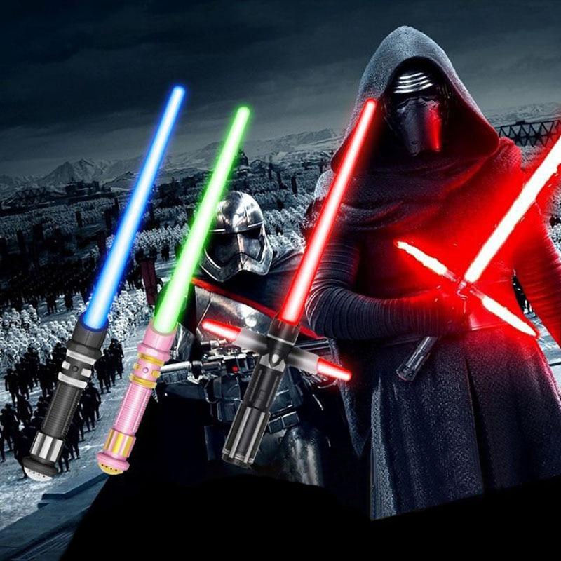 Juguetes led Star Wars lightsaber Stick sonido brillante espada LED Lightsaber Cosplay juguete luz Saber juguete novedad mordaza juguetes para niños
