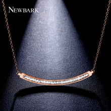 NEWBARK New Sale Necklaces & Pendants 21 Pcs Rose Gold Plated Rectangle Collier Femme Christmas Gifts Collares Jewelry