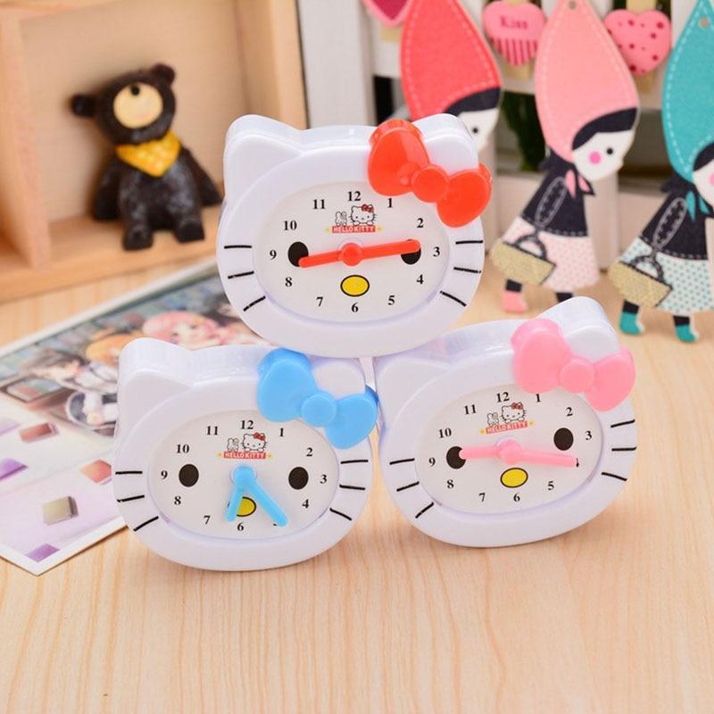 Lovely Cat Clock Ice Cream Sharpener Kids Toys Pen Knife Students Pencil Sharpener School Office Decoration Cartoon Stationery
