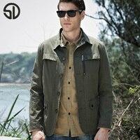 2017 New Jacket Men Fashion Design Veste Homme Formal Spring Winter Suit Coat Solid Cotton Khaki