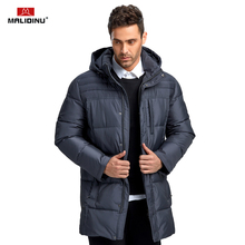 MALIDINU 2019 Men Down Coat Winter Jacket High Quality Thick Warm Parka 70%White Duck Hooded Long
