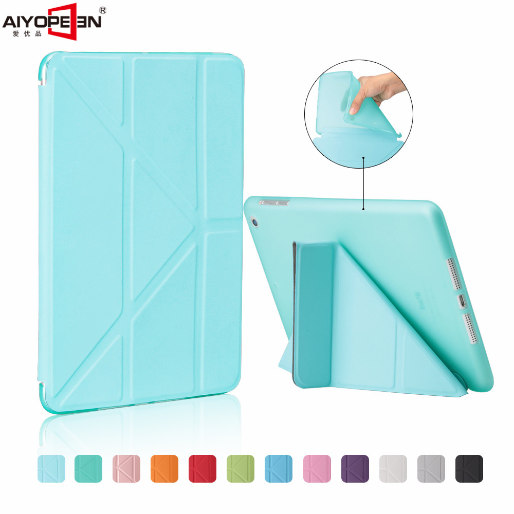 for ipad mini 1 2 3 case ,aiyopeen pu leather tpu back cover magnetic flip stand smart wake up sleep with free gift for ipad air 1 2 case pu leather smart wake up sleep magnetic flip stand with solid plastic back cover for ipad 5 6 stylus