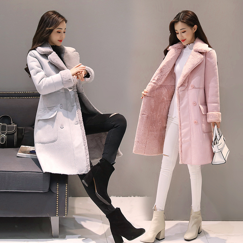 Pregnant women jacket 2018 winter new style jacket female fashion plus velvet thick coat long cashmere lapel trench coat 2017 winter women jacket new fashion thick warm medium long down cotton coat long sleeve slim big yards female parkas ladies269