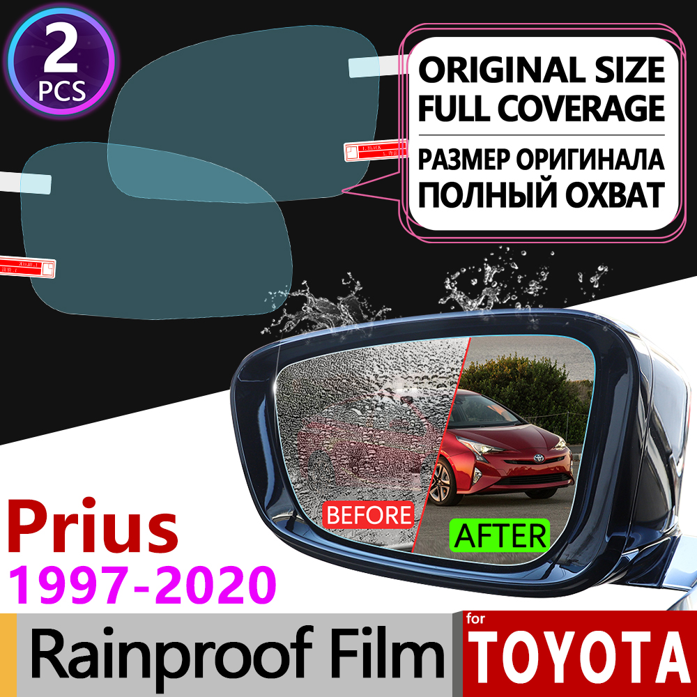 For Toyota Prius 10 20 30 50 C V Aqua 1997 - 2020 Full Cover Anti Fog Film Rearview Mirror Rainproof Anti-Fog Films Accessories(China)