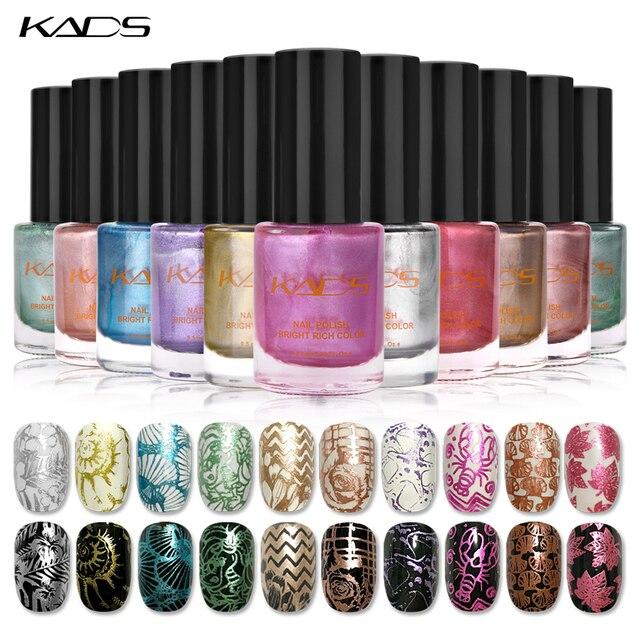KADS 9,5 ml esmalte de uñas y sello polaco de Metal 10 colores opcionales de esmalte de uñas para uñas arte polaco