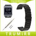 22mm de Acero Inoxidable Venda de Reloj de la Correa de Liberación Rápida para Samsung Engranaje 2 R380 Neo R381 Vivo R382 Wirst Pulsera Negro Oro Plata