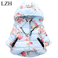 LZH Children Clothes Girls Winter Coat Bow Cartoon Hooded Girls Jacket Kids Jackets Warm Outerwear 2016 Fashion Baby Girls Coat