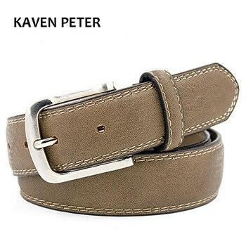 חגורות מעצב מותג יוקרה באיכות גבוהה מותג ג 'ינס Mens חגורת יוקרה עם תפרים כפולים 110 ס