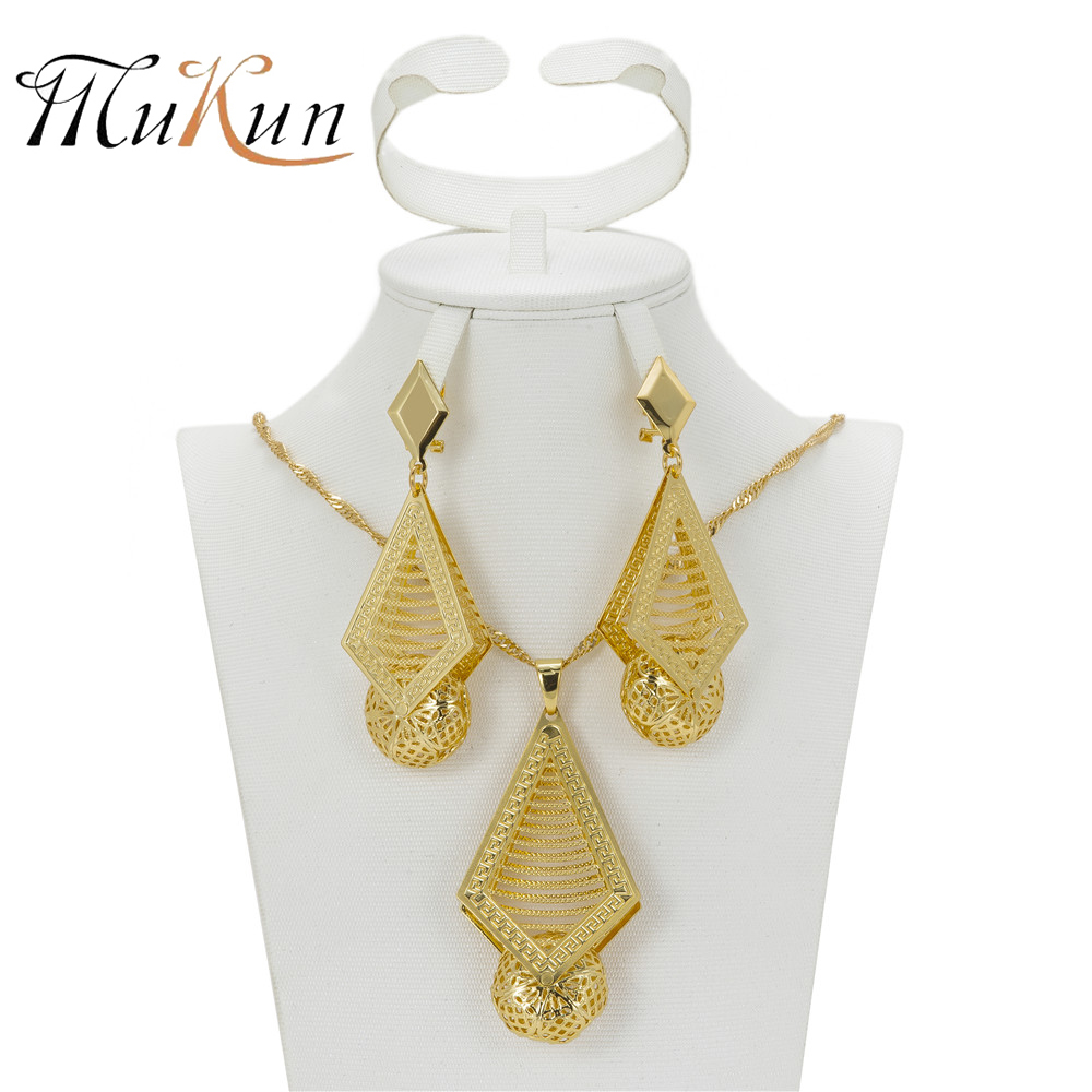 SHILU Top quality Dubai Jewelry Sets Party Fashion African Beads Jewelry Set Newest Design Necklace Earrings For Women Wedding