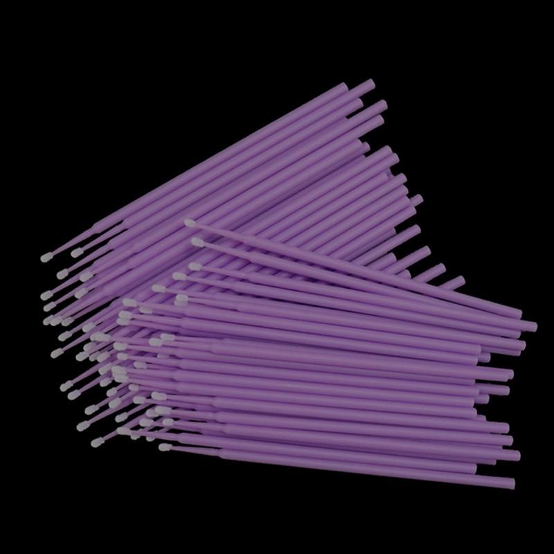 500 pçs descartável microbrush cílios extensão individual