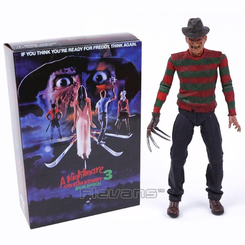 NECA A Nightmare on Elm Street 3 Sogno Guerrieri di Freddy Krueger PVC Action Figure Da Collezione Toy Modello 7 pollici 18 cm