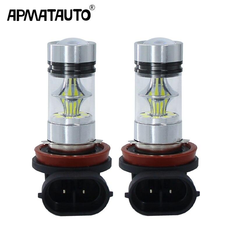 2Pcs H8 H11 LED Bulb 9006 HB4 9005 HB3 Car Fog Lights 12V 24V 20 SMD
