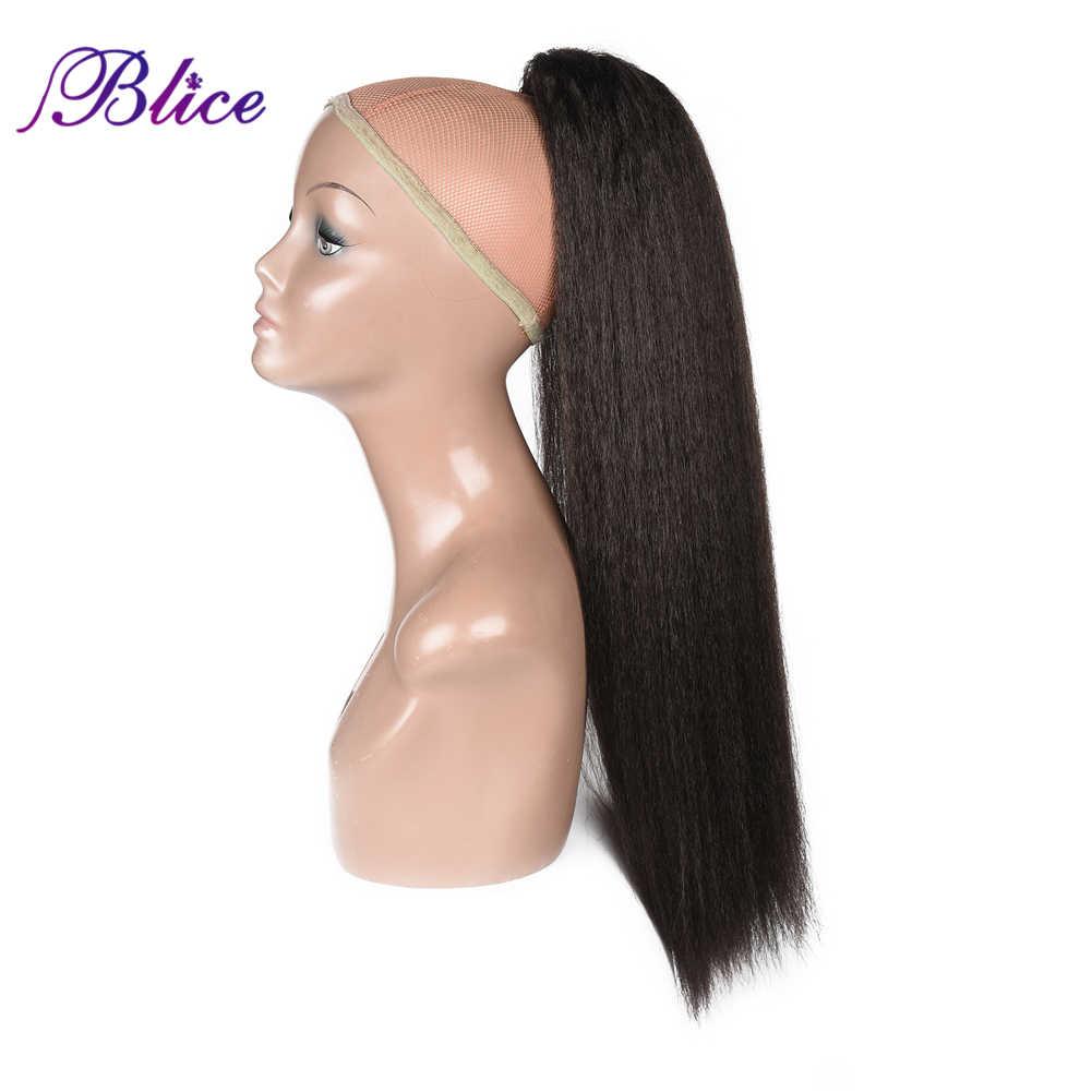 Blice syntetyczne 18-24 cal perwersyjne prosto żaroodporne peruka z kucykiem przedłużanie włosów z dwoma plastikowymi grzebieniami wszystkie kolory są dostępne