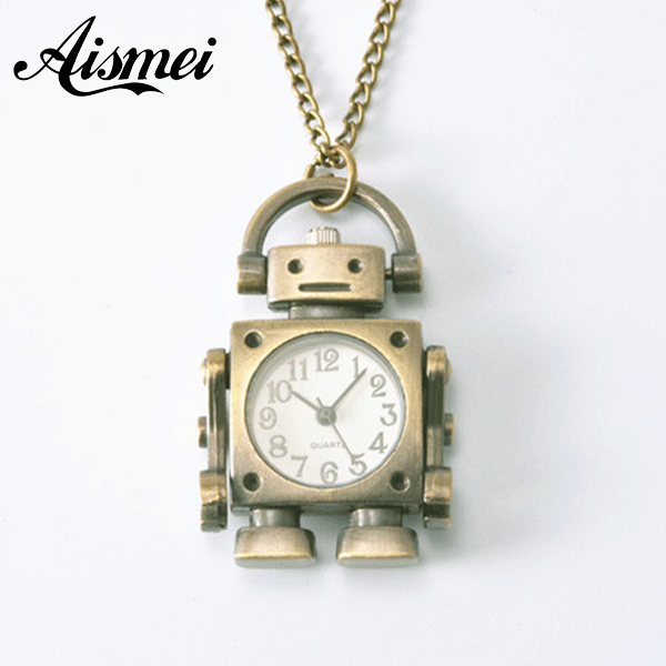 Antique Retro Vintage Alien Round Rectangle Bicycle Metal Steampunk Quartz Necklace Pendant Chain Small Pocket Watch For Gift stylish bicycle lock and round pendant double sweater chains for women