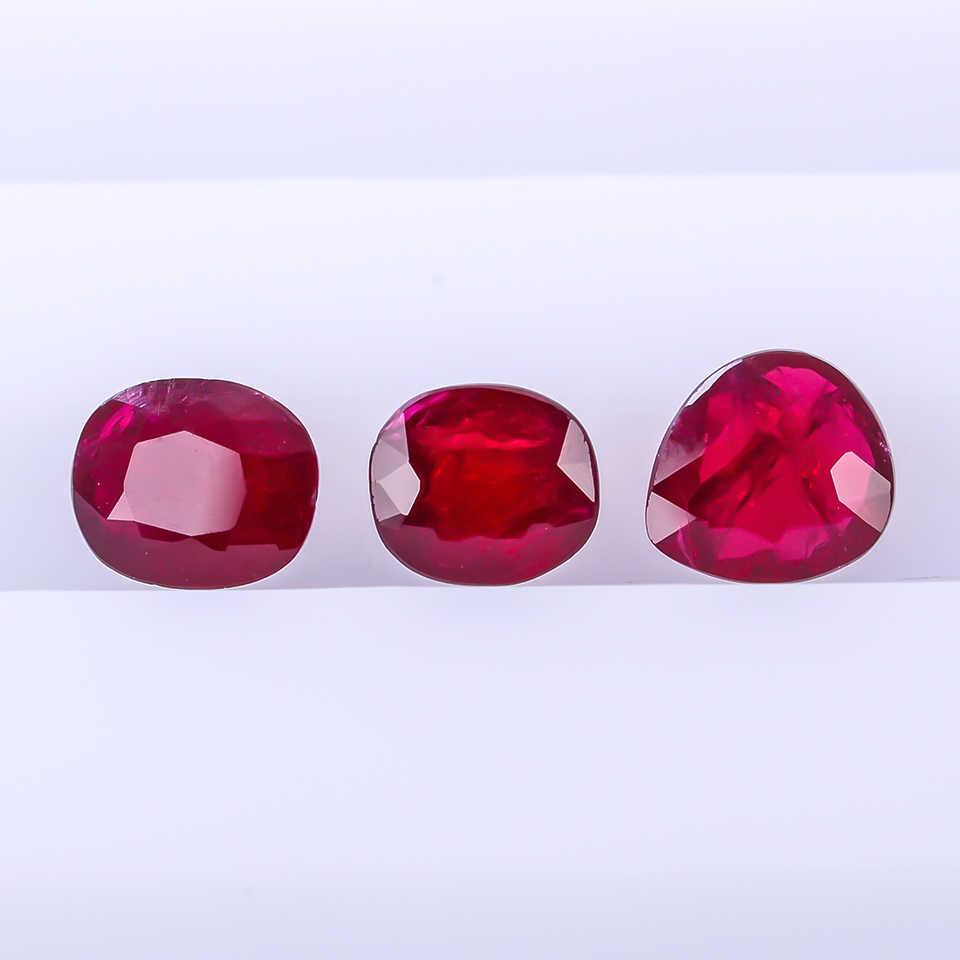 Natural no heat-treated pigeon blood ruby nude stone ring bare stone ring  can help you make jewelry