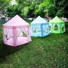 Portable Kids Toys Tent Play Ball Pool Princess Girl's Castle Play House Children Small House Folding Playtent Baby Beach Tent цена и фото
