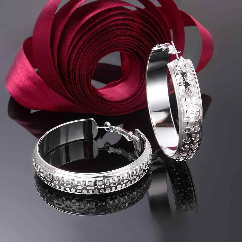 قرط مجوهرات مطلي بالفضة مطلي 925 عالي الجودة بسعر المصنع ، أقراط مجوهرات دائرية ناعمة رائعة 12 طراز
