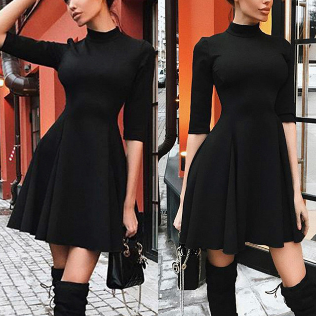 2018 Sexy Off Shoulder Summer Women Dress Female Womens Holiday O Collar Party Ladies Casual Dress Half Sleeve Dress Party Dress 4