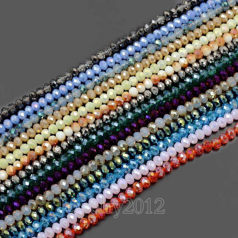 ab claro Cristal checo facetado granos de poni para la fabricación de joyas 4X6MM 60PCS