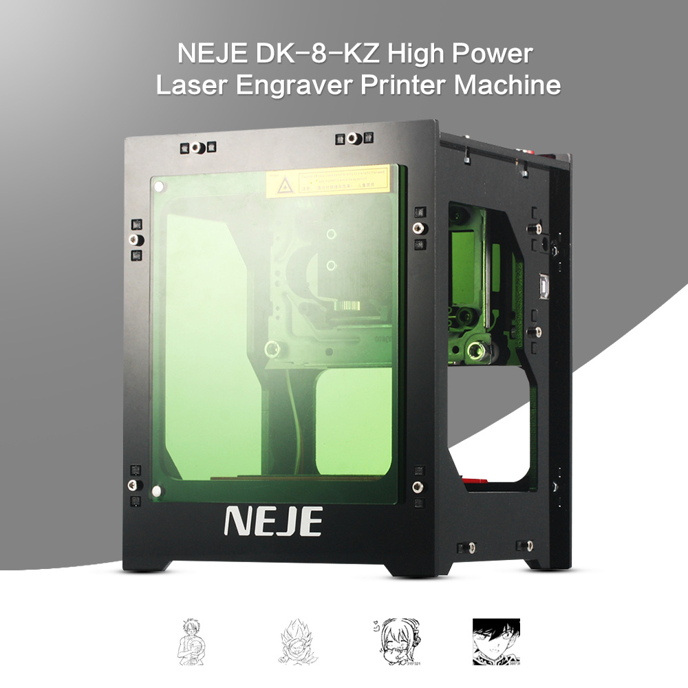 2018 actualización NEJE 1000 mW cnc crouter cnc de corte por láser mini máquina de grabado cnc máquina de impresión de grabador láser de alta velocidad ad deflectores