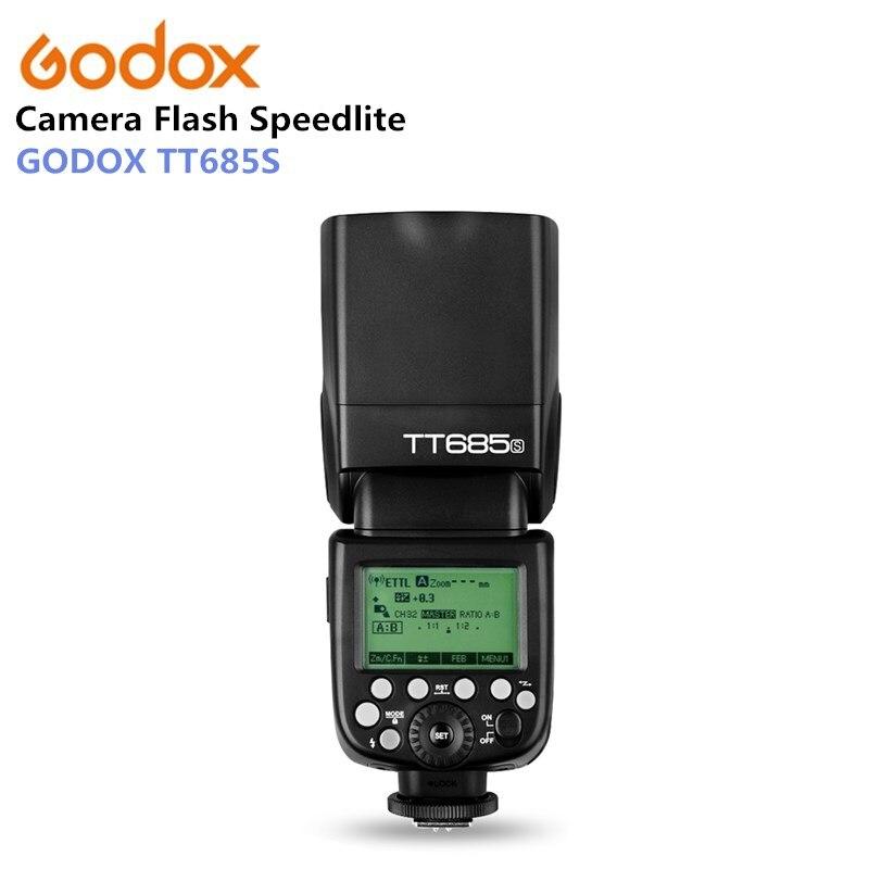 Godox TT685S Cámara flash 2.4g HSS TTL GN60 flash speedlite para Sony A58 A7RII A7II A99 A9 A7R A6300 + 5 Kit de regalo