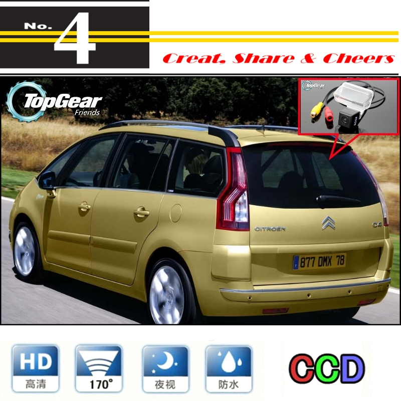 For Citroen C4 Picasso Car Camera  High Reverse Rear View Back Up Camera For PAL / NTSC Use | CCD + RCA