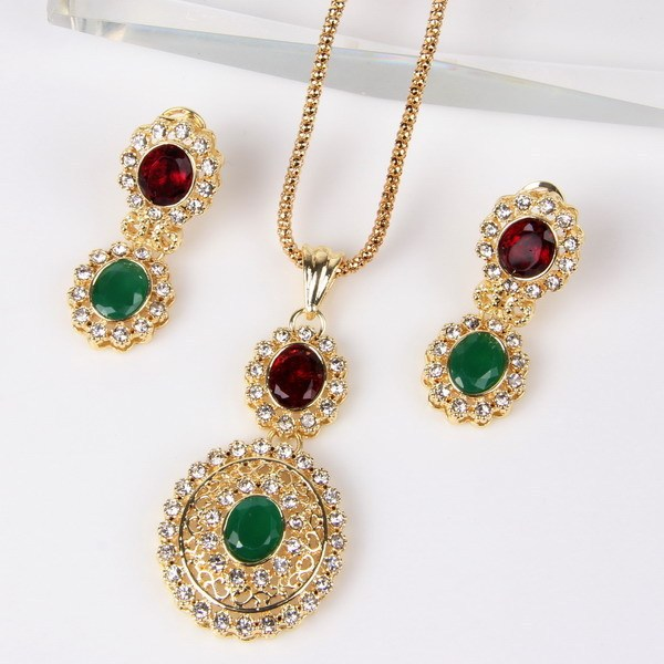 Trendy Gold Color CZ Water...