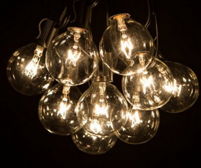 buy globe string lights with 25 g40 bulbs vintage patio garden light string for. Black Bedroom Furniture Sets. Home Design Ideas