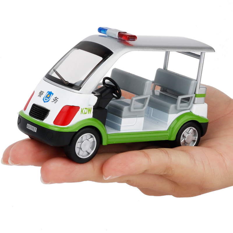 Children Kids Alloy Diecast Four-seat Patrol Car Model Analog Car Toy Metal 1:50 Gift