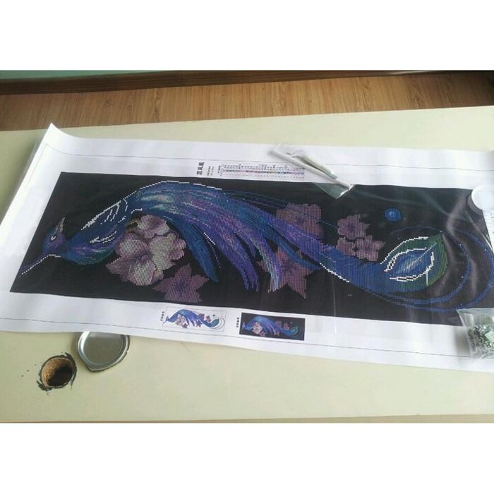 5D DIY Embroidery font b Animal b font Blue Phoenix Cross Stitch Kits Pattern Crystal Rhinestone