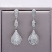 MoonTree 65mm Luxury Solid Ball Large Earring Full Mirco Paved Microl Zirconia Copper Earrings For Women Fashion Jewelry