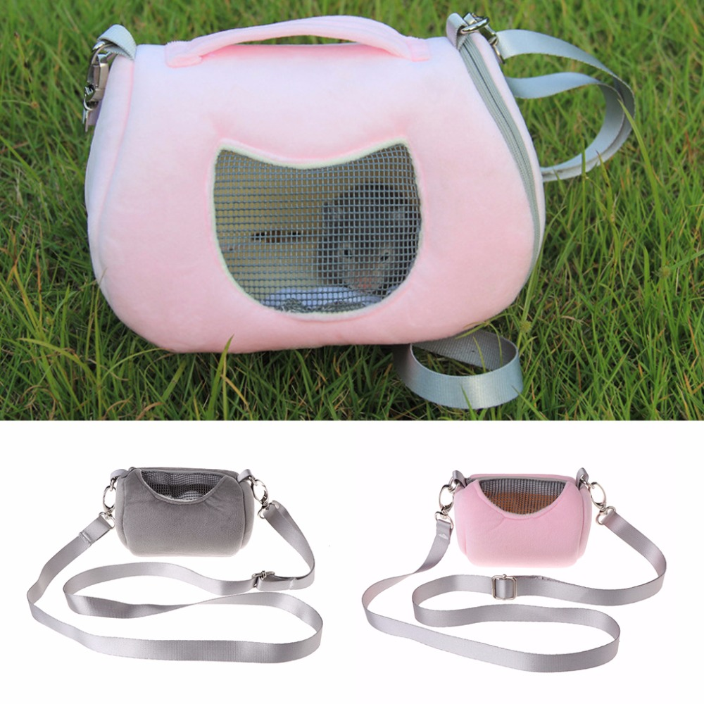 Small Pet Travel Bag Hamster Carrier Breathable Shoulder Strap Outdoor Portable Carring Bags Small Animal Supplies C42
