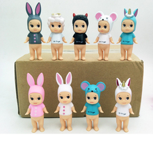 9PCS/LOT Sonny Angel Animal Plant Baby Action Figure Original Limited Edition Gift for Kids Cute Kawaii Action Figure Toys