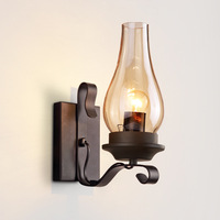 Traditional Kerosene Oil Lamp Wall Sconce Vintage Retro Light Fixture for Stairs Entrance Hall Loft Home House Decoration