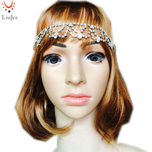 Crystal Head Band Bridal Wedding Bride Prom Head Piece Grecian Boho Stunning bohemian goddess princess Hair jewelry KD035