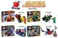 D Avengers crystal clear Edición Superman Batman Wolverine montado bloques de construcción de juguete vehículos D859