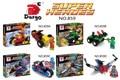 D Avengers crystal clear Edition Superman Batman vehicles assembled Wolverine toy building blocks D859