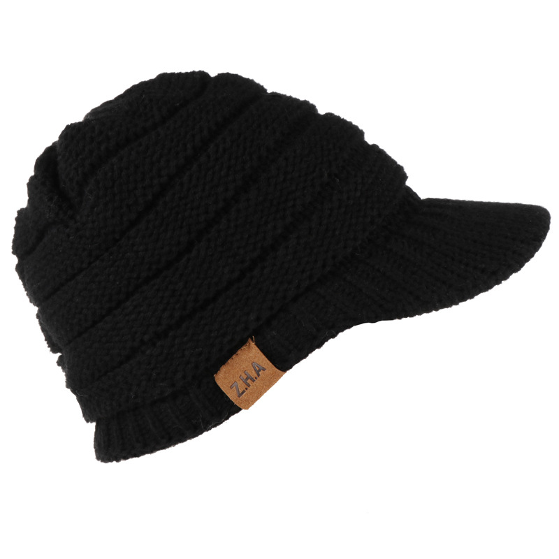 2019 NEW Style Pure Colour  Hat  Adult Women Men Winter Crochet Hat Knit  Warm Baseball Cap Visor Cap High Quality Z39